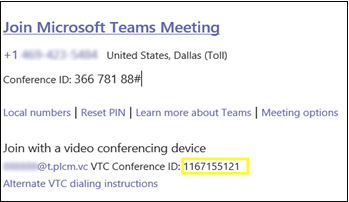 Join Microsoft Teams Meeting dialog